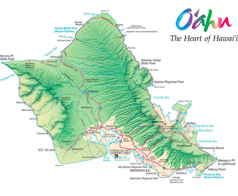 Holidays to Oahu Oahu Hawaii Holidays TailorMadeHawaii – Oahu Tourist Map